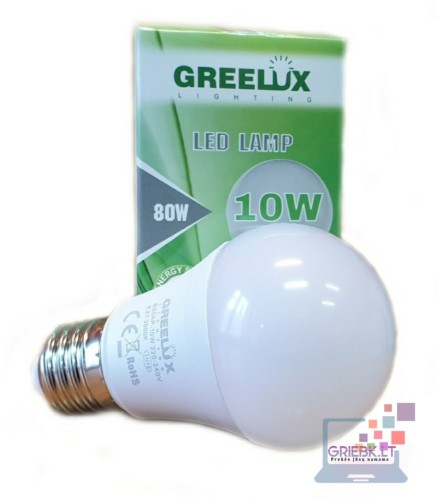 LED lemputė A60 10W E27 Greelux