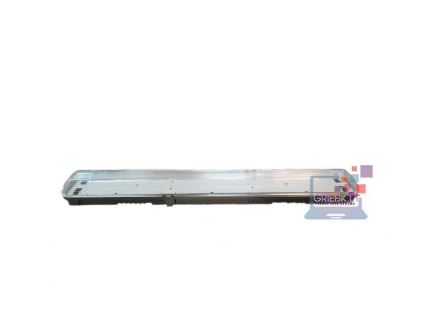 Hermetinis šviestuvas IP65 0,6m 2×9W