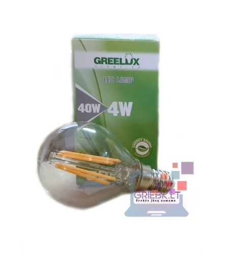 LED lemputė Filament P45 E14 220V 4W Greelux