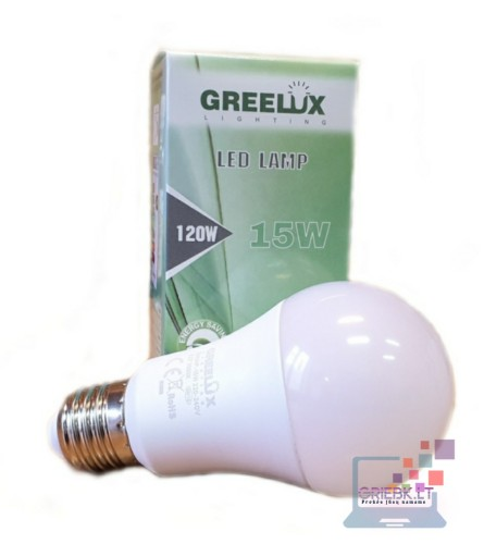 LED lemputė A60 15W E27 Greelux