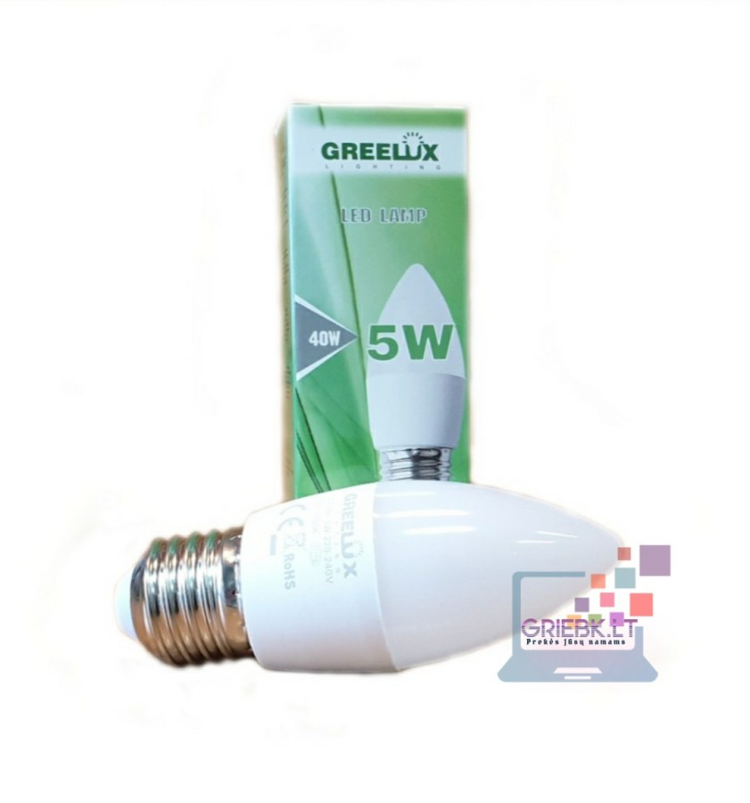 LED lemputė C37 5W E27 Greelux