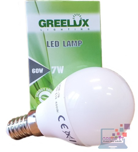 LED lemputė P45 7W E14 Greelux