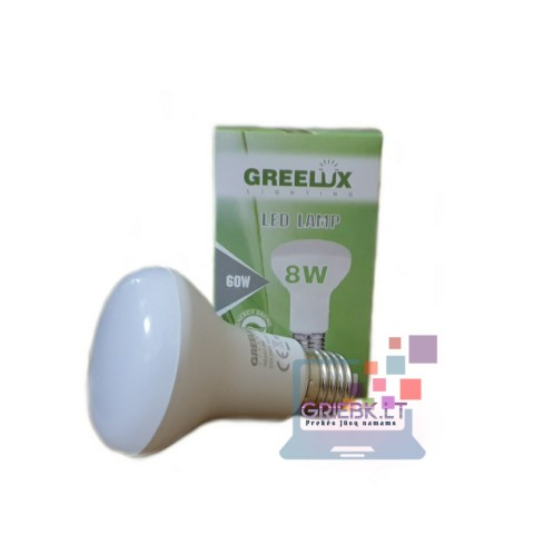 LED lemputė R63 8W E27 2700K Greelux