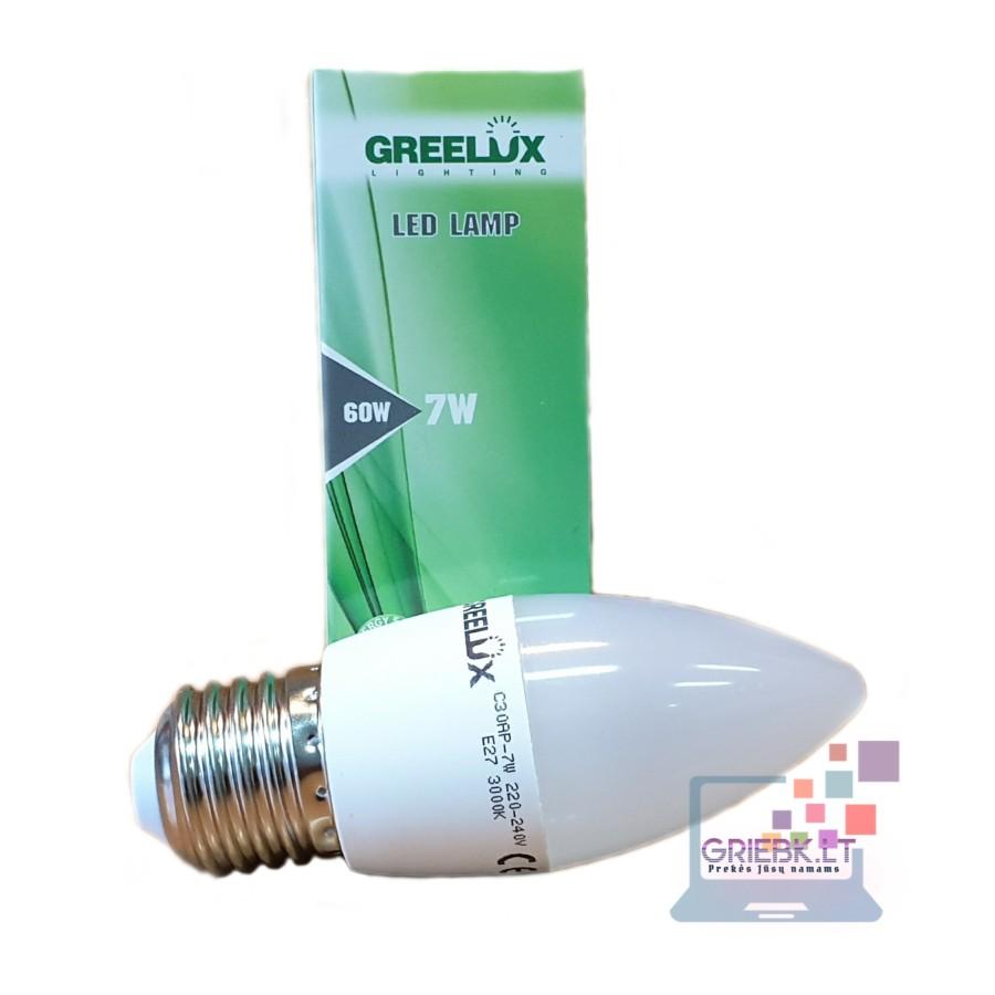 LED lemputė C37 7W E27 Greelux