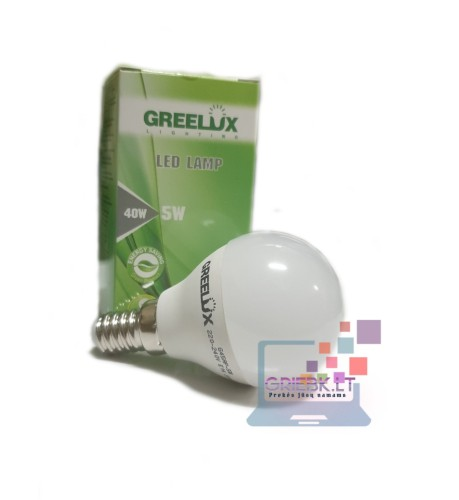 LED lemputė P45 5W E14 Greelux