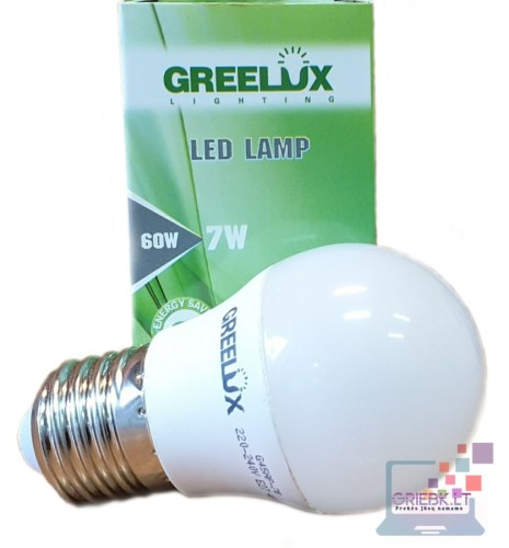 LED lemputė P45 7W E27 Greelux