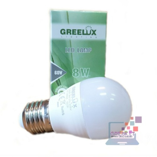 LED lemputė P45 8W E27 Greelux