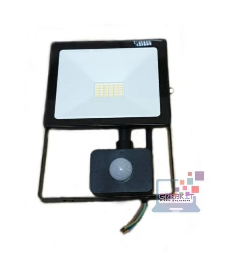 LED prožektorius su davikliu 30W Greelux